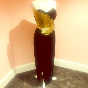 STUNNING couture velvet vintage gown